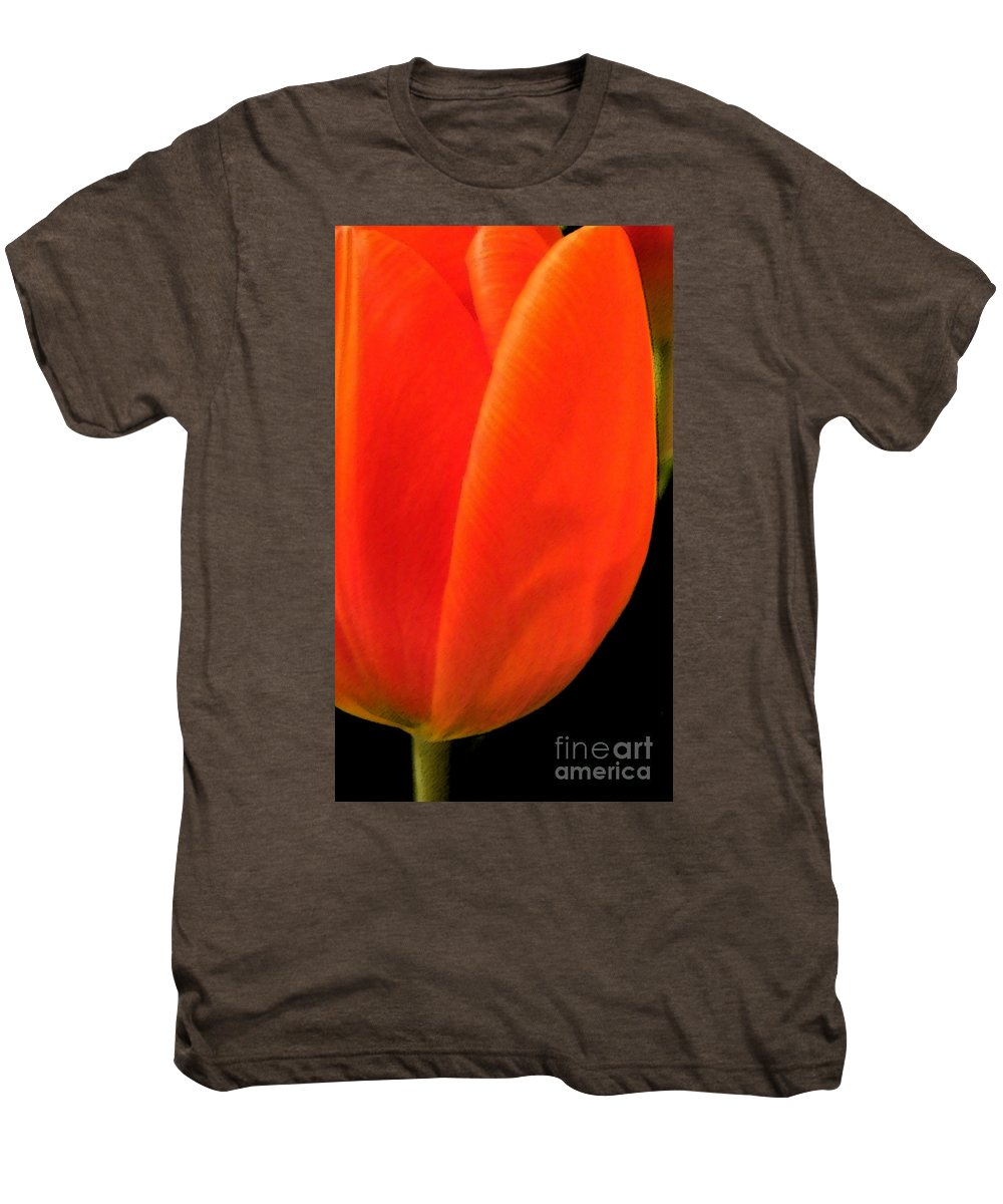 Tulips Men's Premium T-Shirt featuring the photograph Tulip by Amanda Barcon