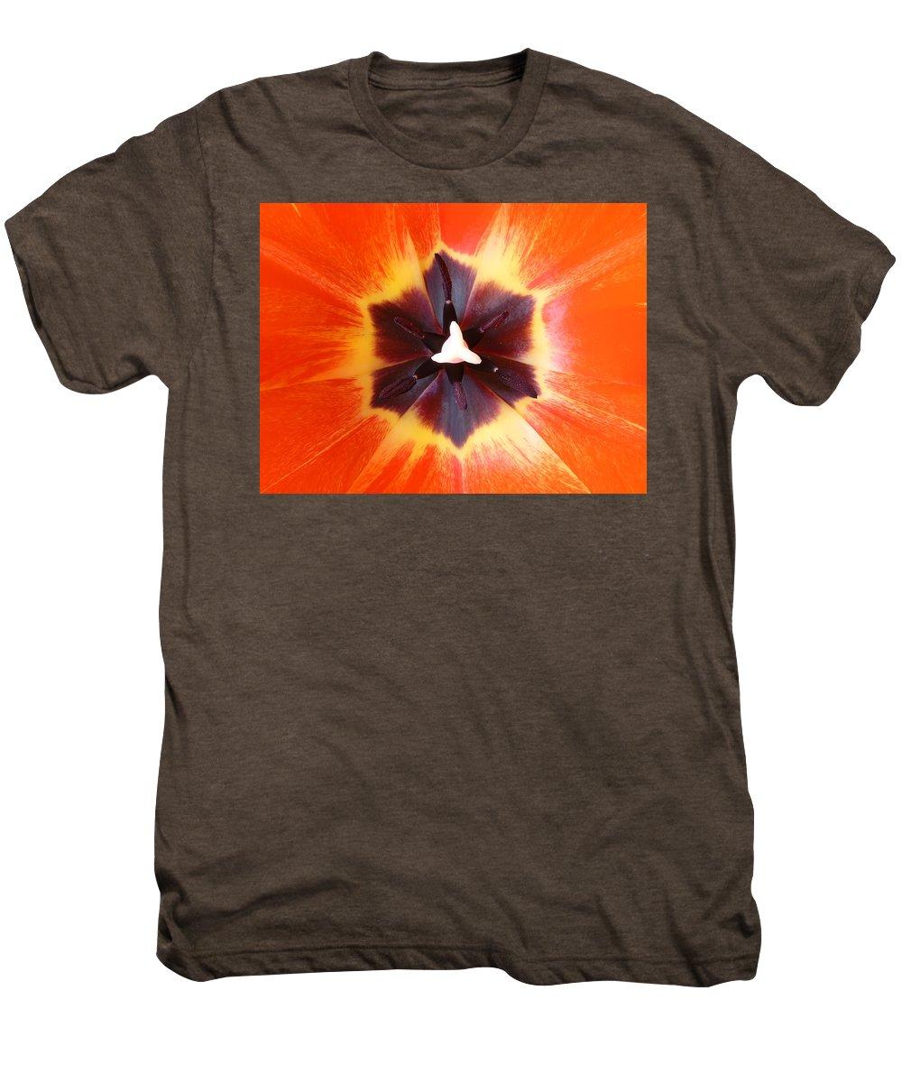 Tulip Men's Premium T-Shirt featuring the photograph Tulip by Daniel Csoka