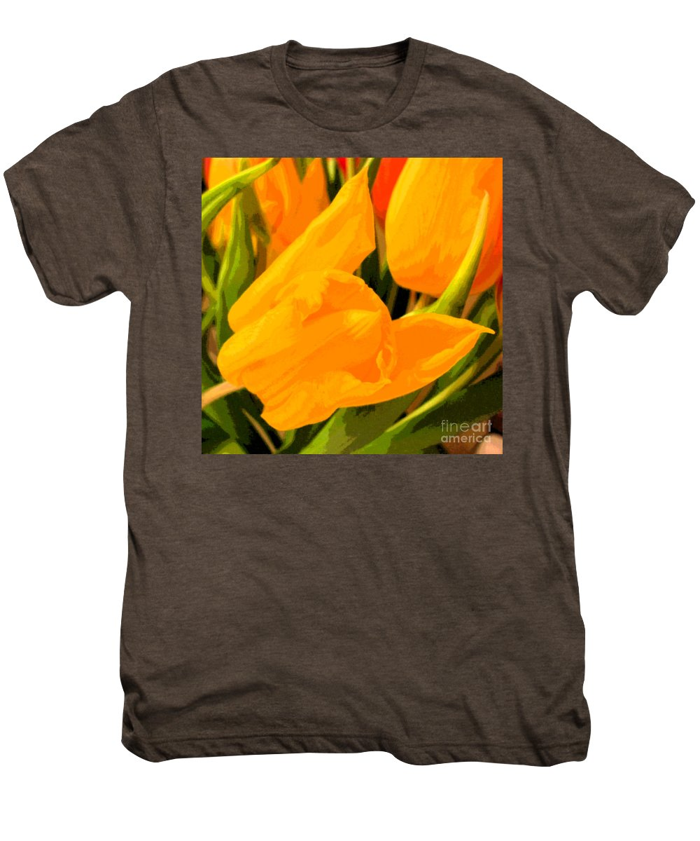 Tulip Men's Premium T-Shirt featuring the photograph Tulips by Amanda Barcon