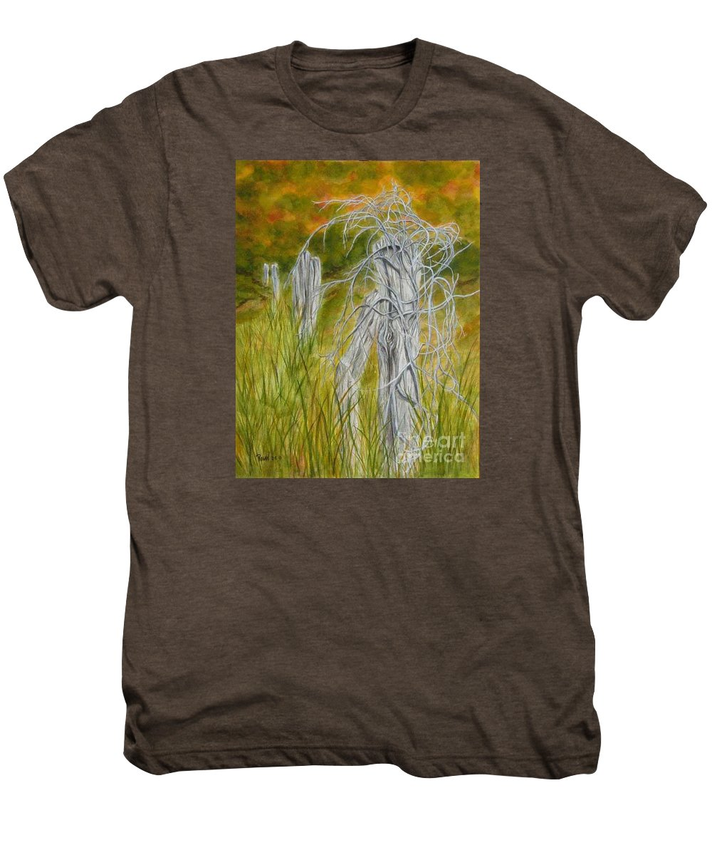 Landscape Men's Premium T-Shirt featuring the painting Twisted by Regan J Smith