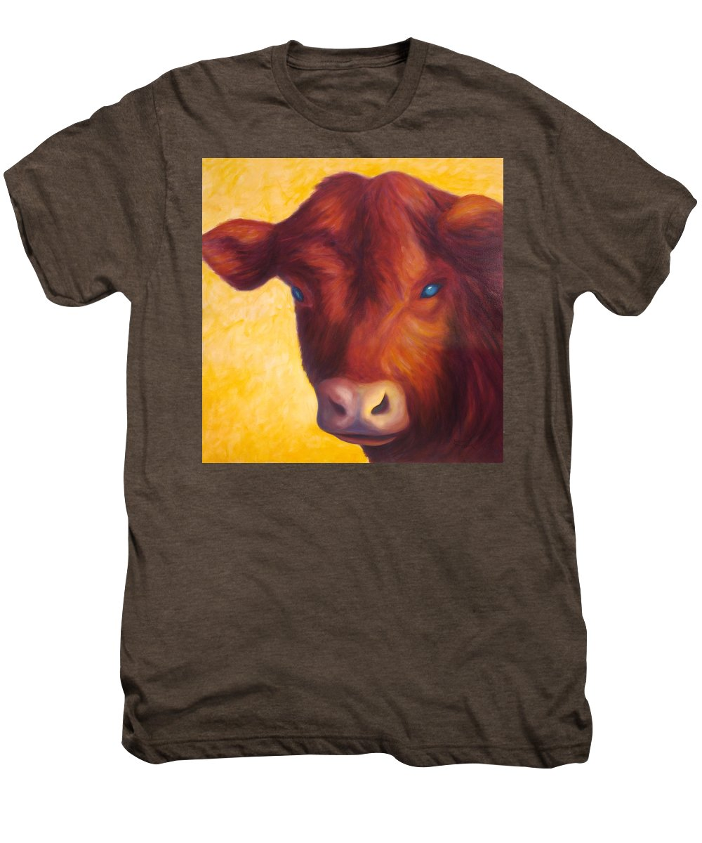 Bull Men's Premium T-Shirt featuring the painting Vern by Shannon Grissom