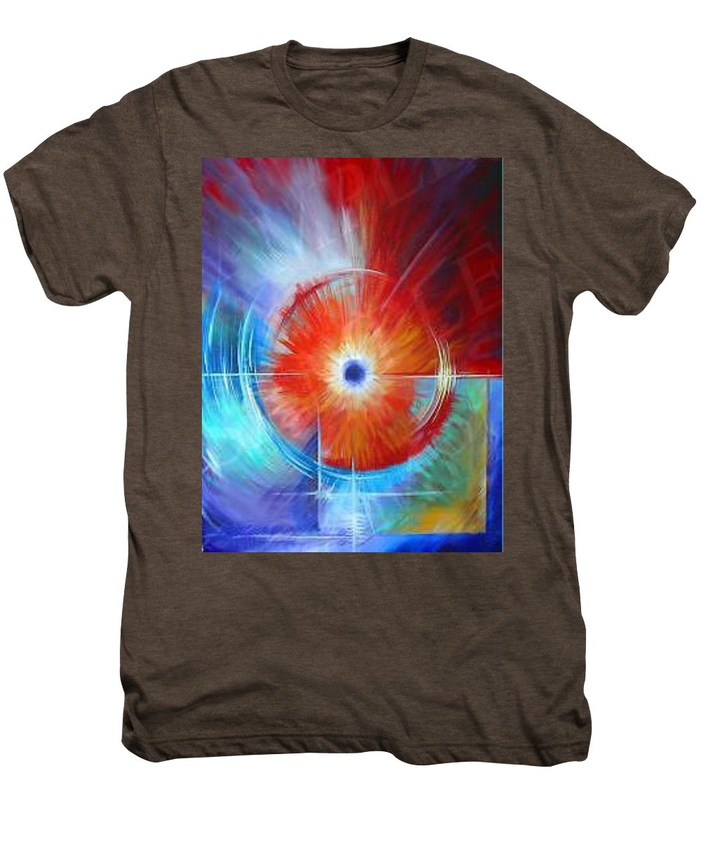 Clouds Men's Premium T-Shirt featuring the painting Vortex by James Christopher Hill