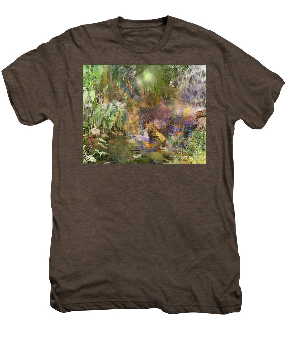 Whispering Waters Men's Premium T-Shirt featuring the digital art Whispering Waters by John Beck