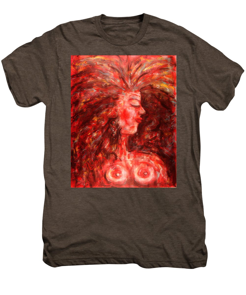 Female Men's Premium T-Shirt featuring the painting Wild One by Natalie Holland