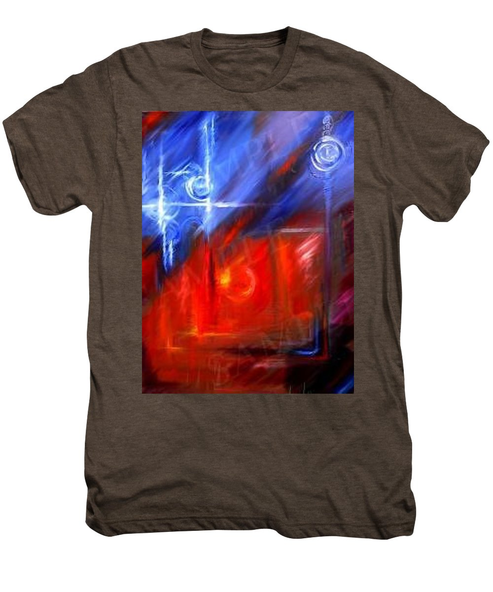 Abstracts Men's Premium T-Shirt featuring the painting Windows by James Christopher Hill