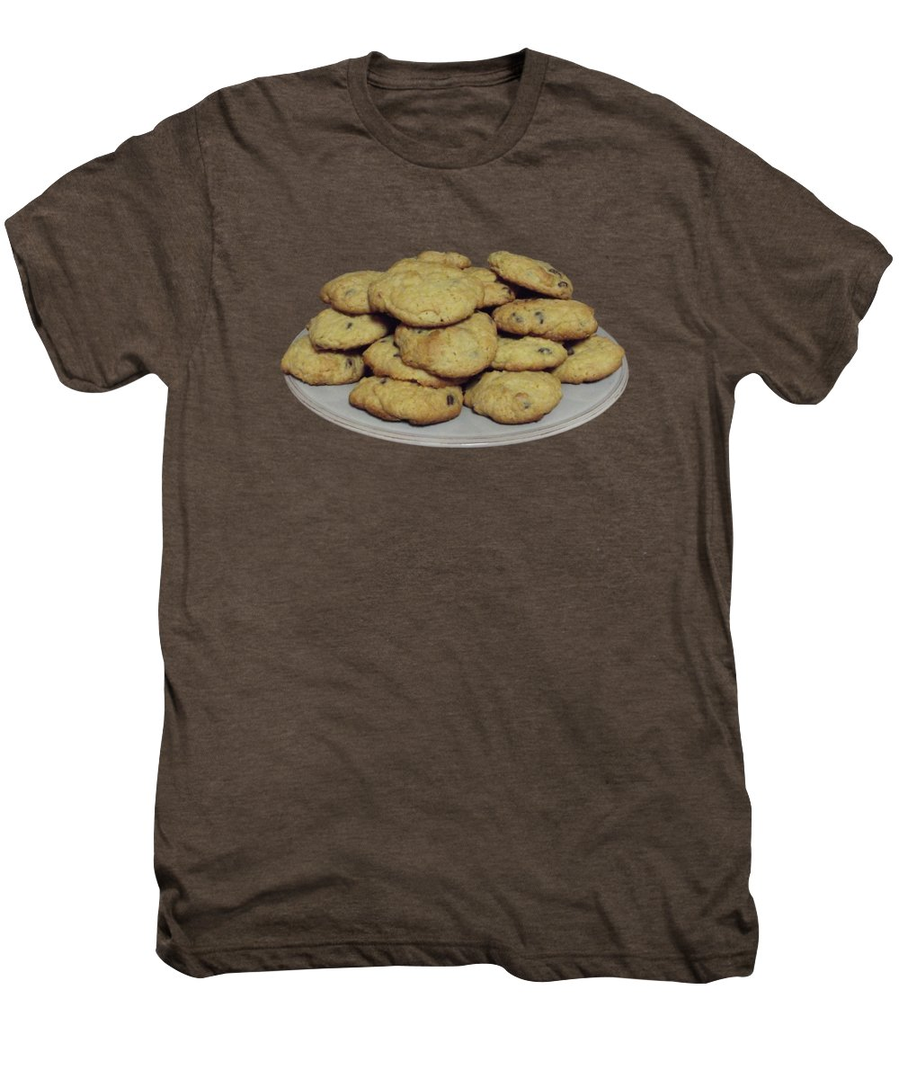 Chocolate Men's Premium T-Shirt featuring the photograph With This Plate I Thee Give by Dee Leah G