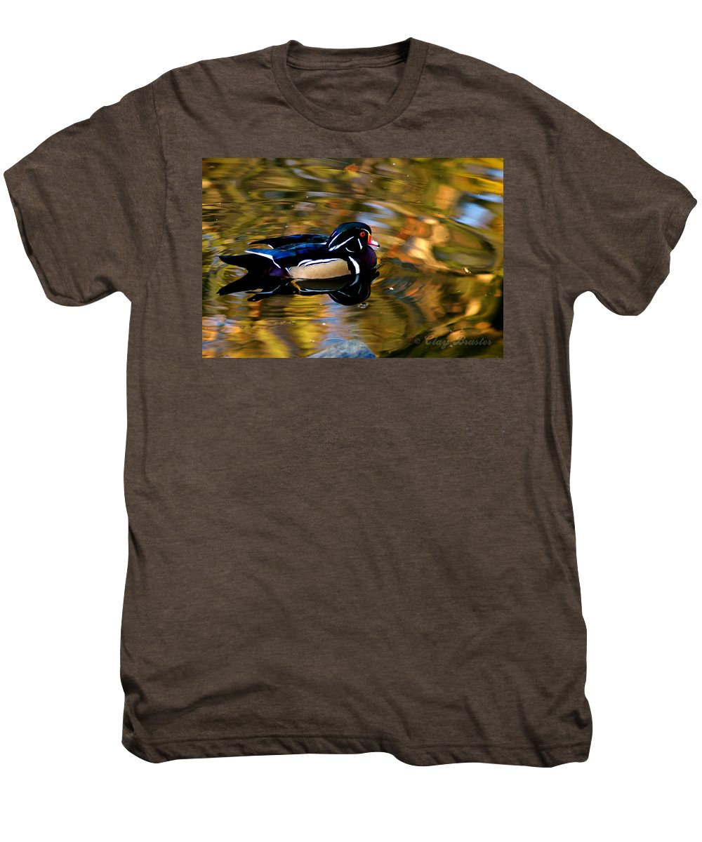 Clay Men's Premium T-Shirt featuring the photograph Wood Duck by Clayton Bruster