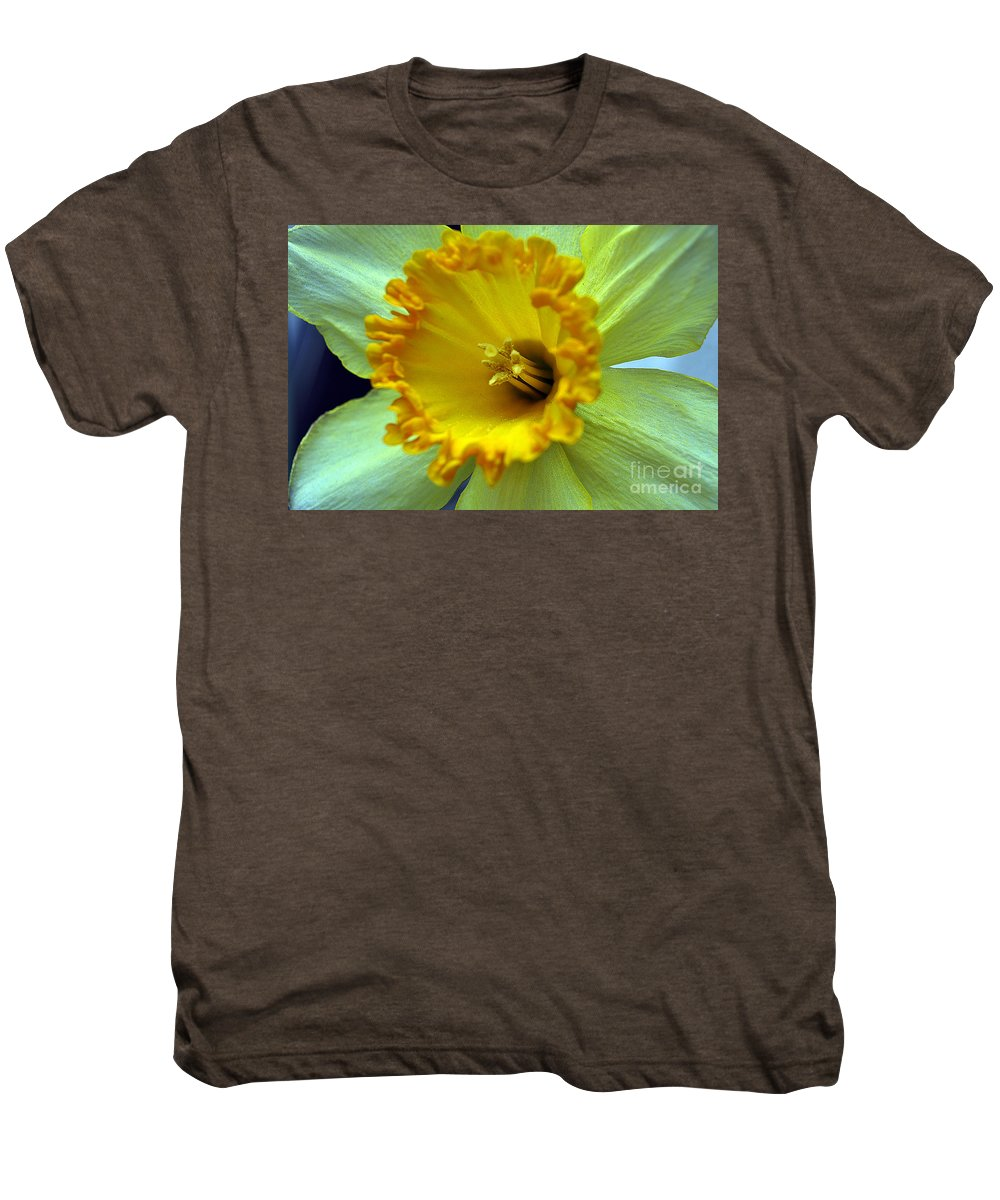 Clay Men's Premium T-Shirt featuring the photograph Yellow Floral by Clayton Bruster