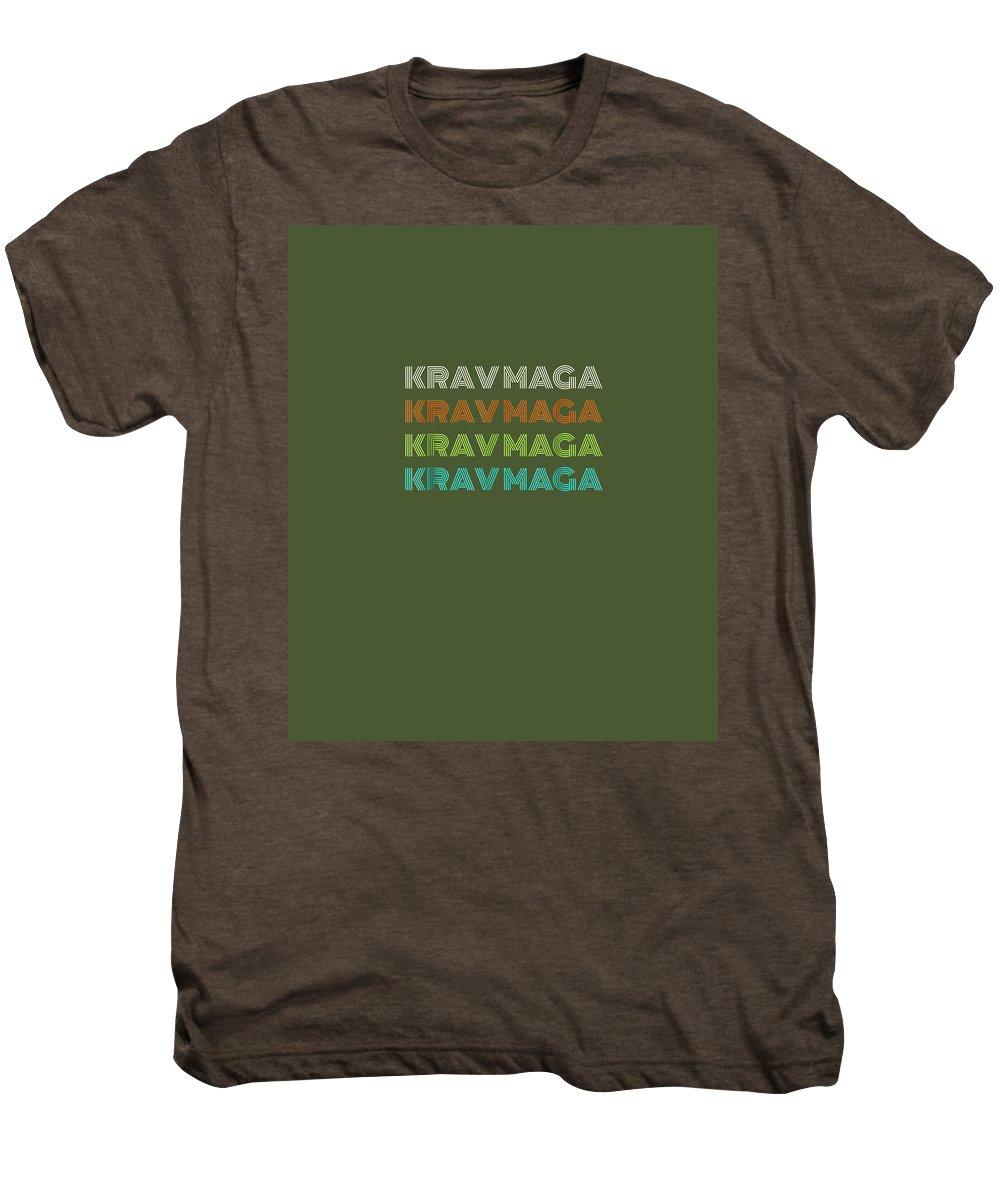 girls' Novelty T-shirts Men's Premium T-Shirt featuring the digital art Classic 1970's Krav Maga T-shirt by Unique Tees