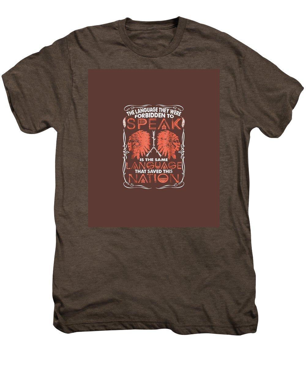 men's Novelty T-shirts Men's Premium T-Shirt featuring the digital art Native T-shirt by Unique Tees