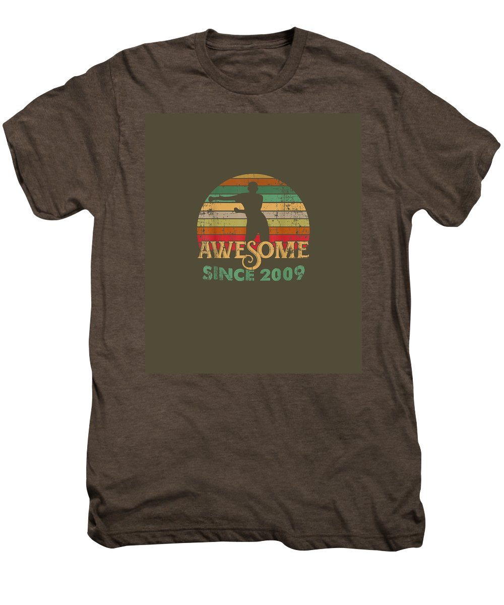 girls' Novelty Clothing Men's Premium T-Shirt featuring the digital art Vintage Flossing Awesome Since 2009 10th Yrs Birthday Gifts by Unique Tees