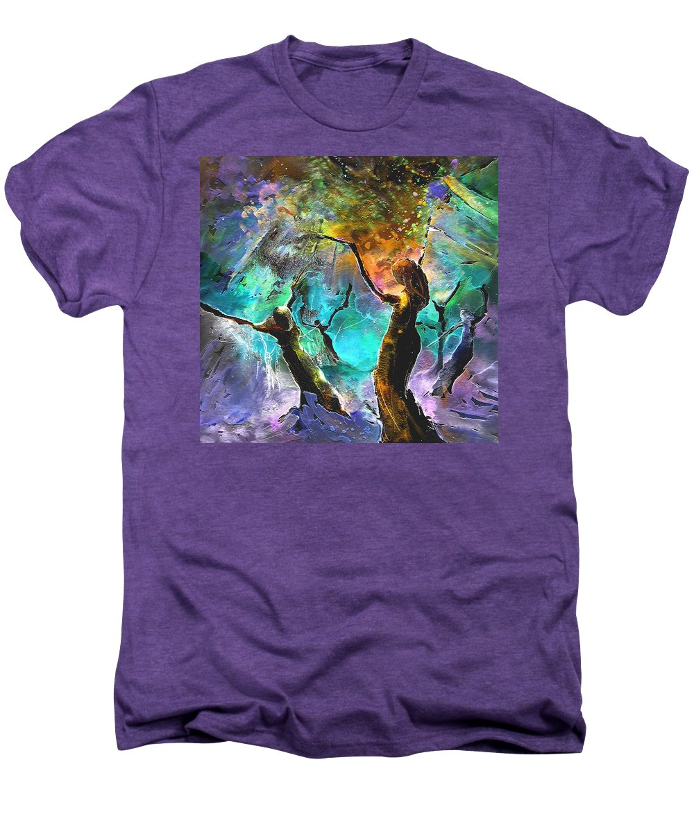 Miki Men's Premium T-Shirt featuring the painting Celebration Of Life by Miki De Goodaboom