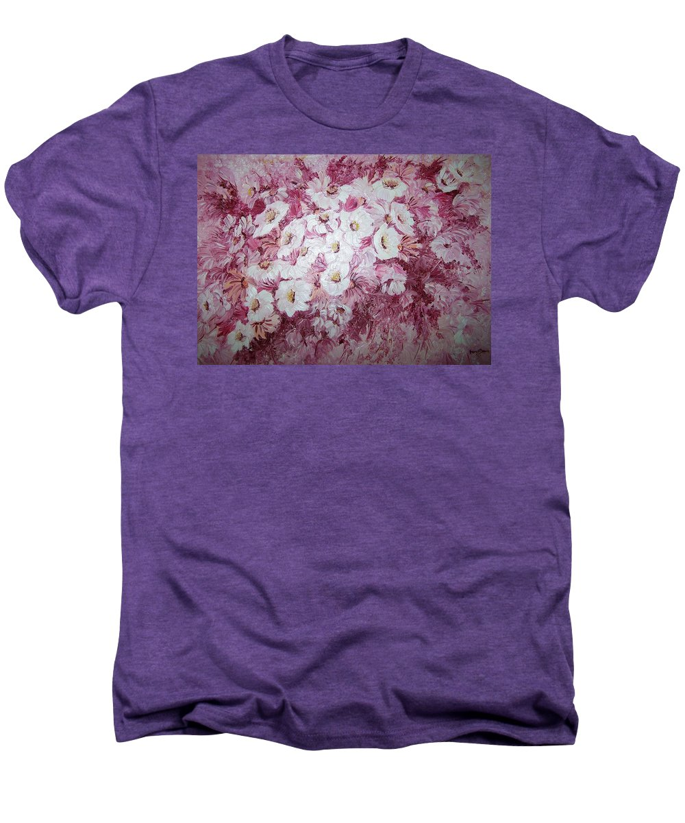 Men's Premium T-Shirt featuring the painting Daisy Blush by Karin Dawn Kelshall- Best