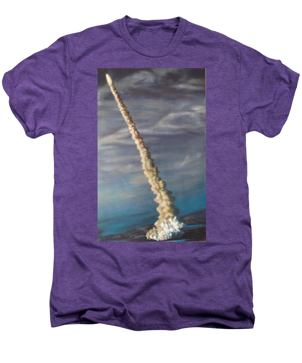 Rocket Men's Premium T-Shirt featuring the painting Throttle Up by Sean Connolly