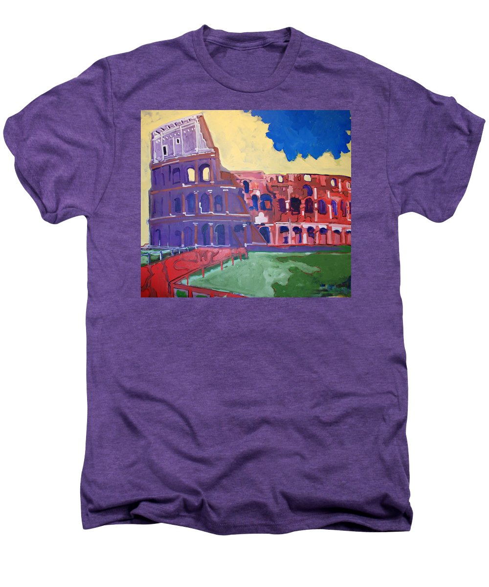 Rome Men's Premium T-Shirt featuring the painting Colosseum by Kurt Hausmann