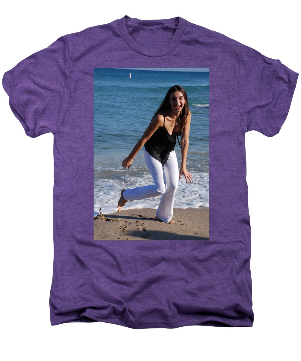 Sea Scape Men's Premium T-Shirt featuring the photograph Gisele by Rob Hans