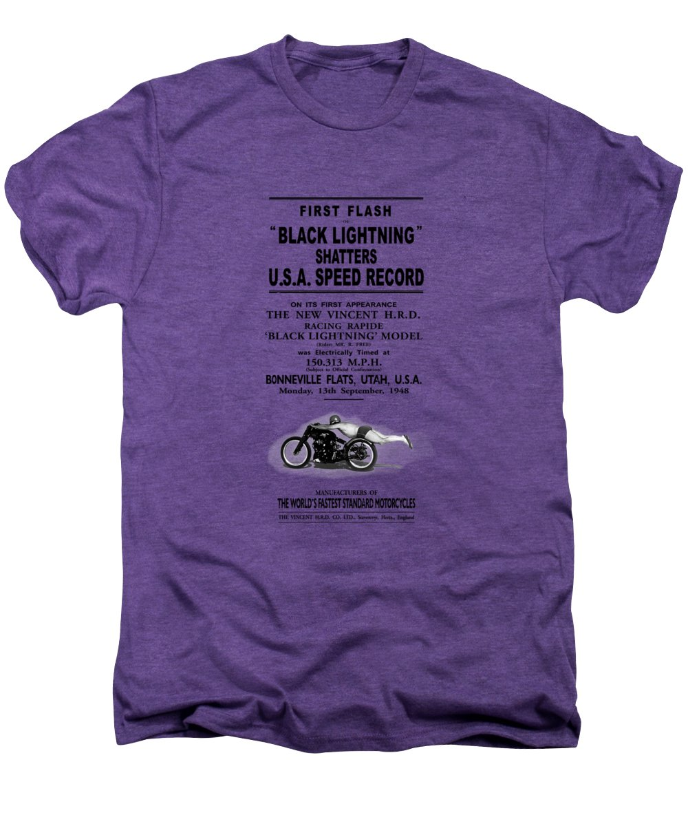 Rollie Free Men's Premium T-Shirt featuring the photograph Rollie Free Flying Mile by Mark Rogan