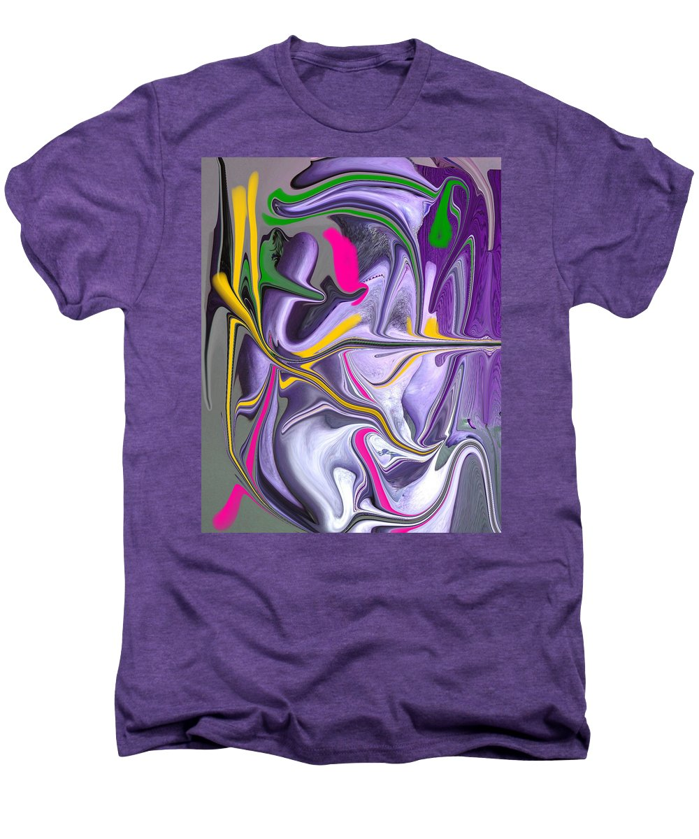 Abstract Men's Premium T-Shirt featuring the photograph Body Language by Allan Hughes