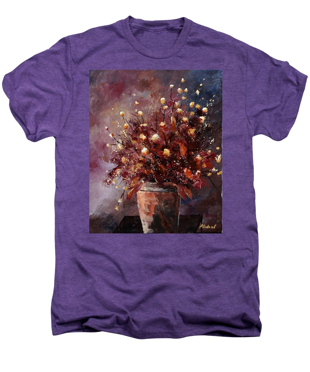 Poppies Men's Premium T-Shirt featuring the painting Bunch 56 by Pol Ledent