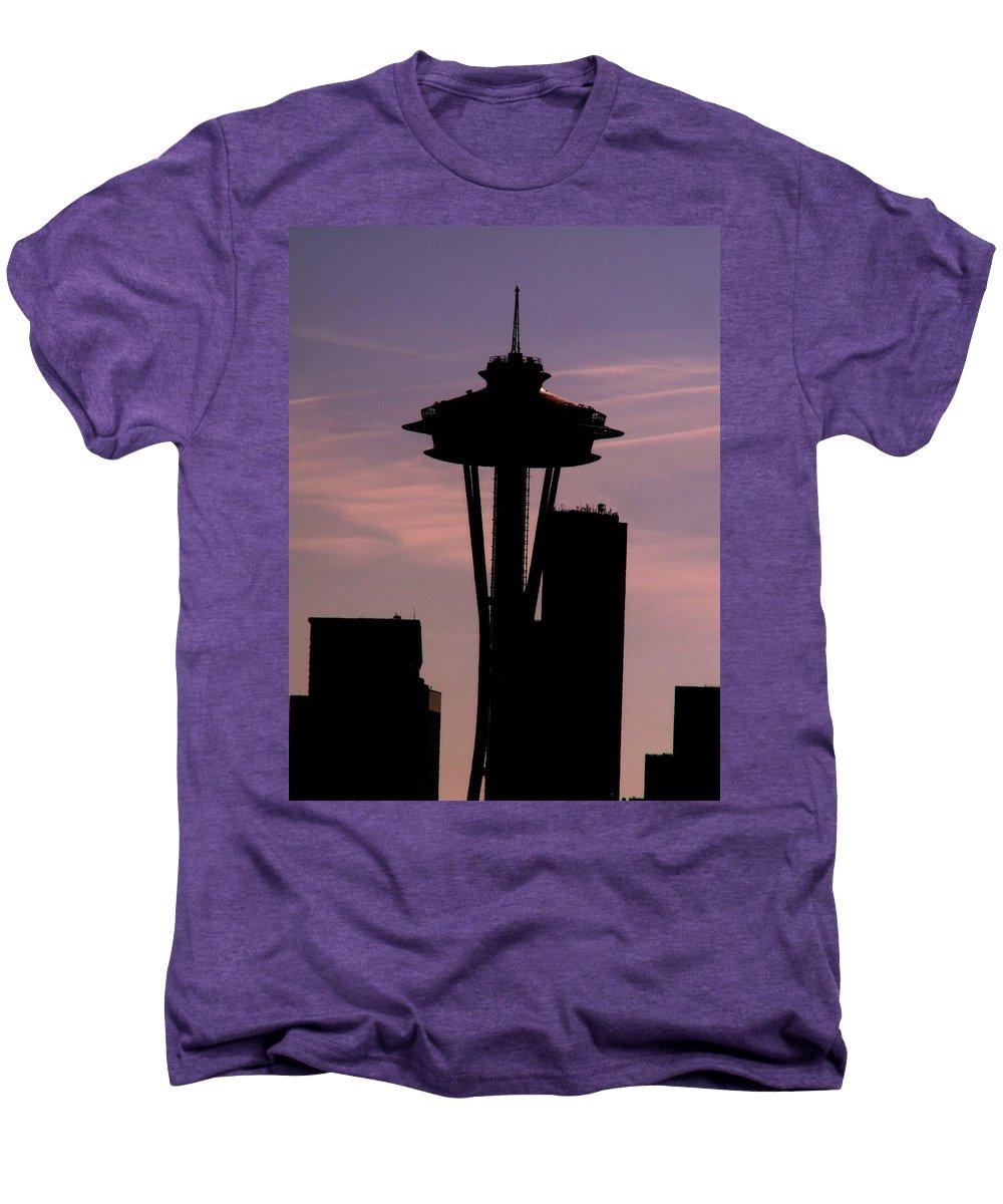 Seattle Men's Premium T-Shirt featuring the digital art City Needle by Tim Allen