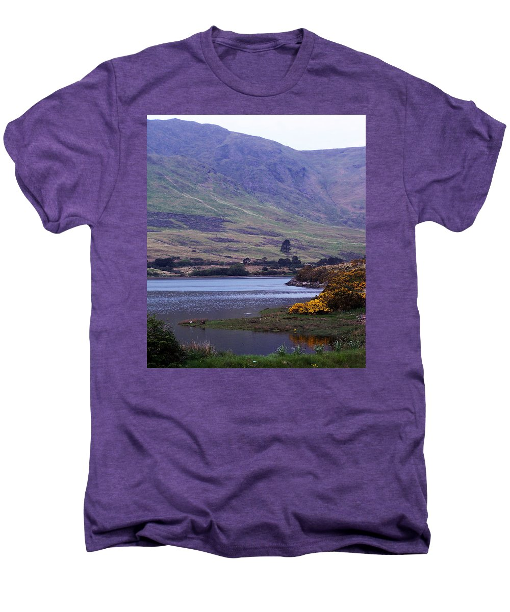 Landscape Men's Premium T-Shirt featuring the photograph Connemara Leenane Ireland by Teresa Mucha
