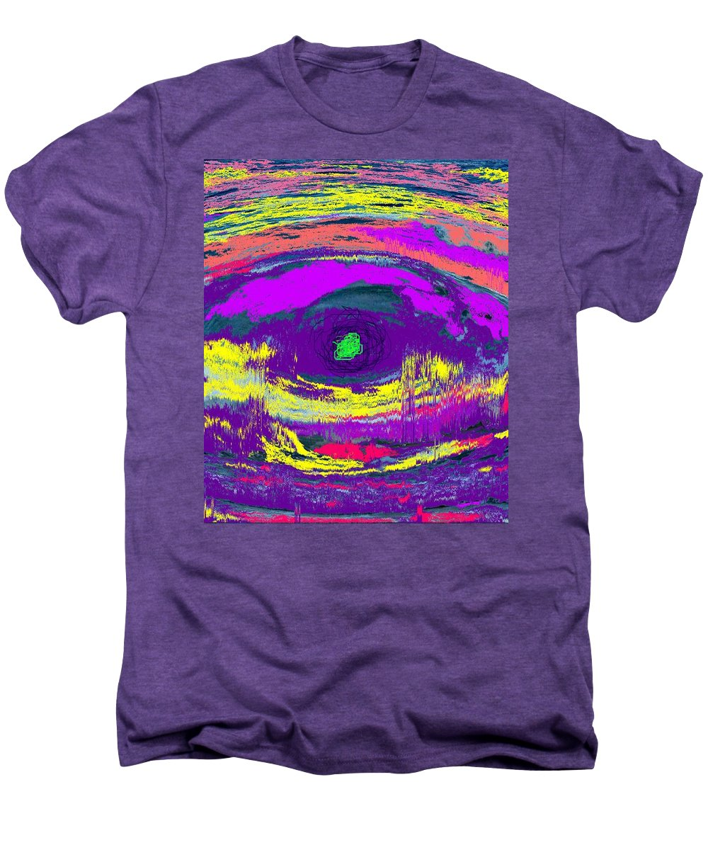 Abstract Men's Premium T-Shirt featuring the digital art Crocodile Eye by Ian MacDonald