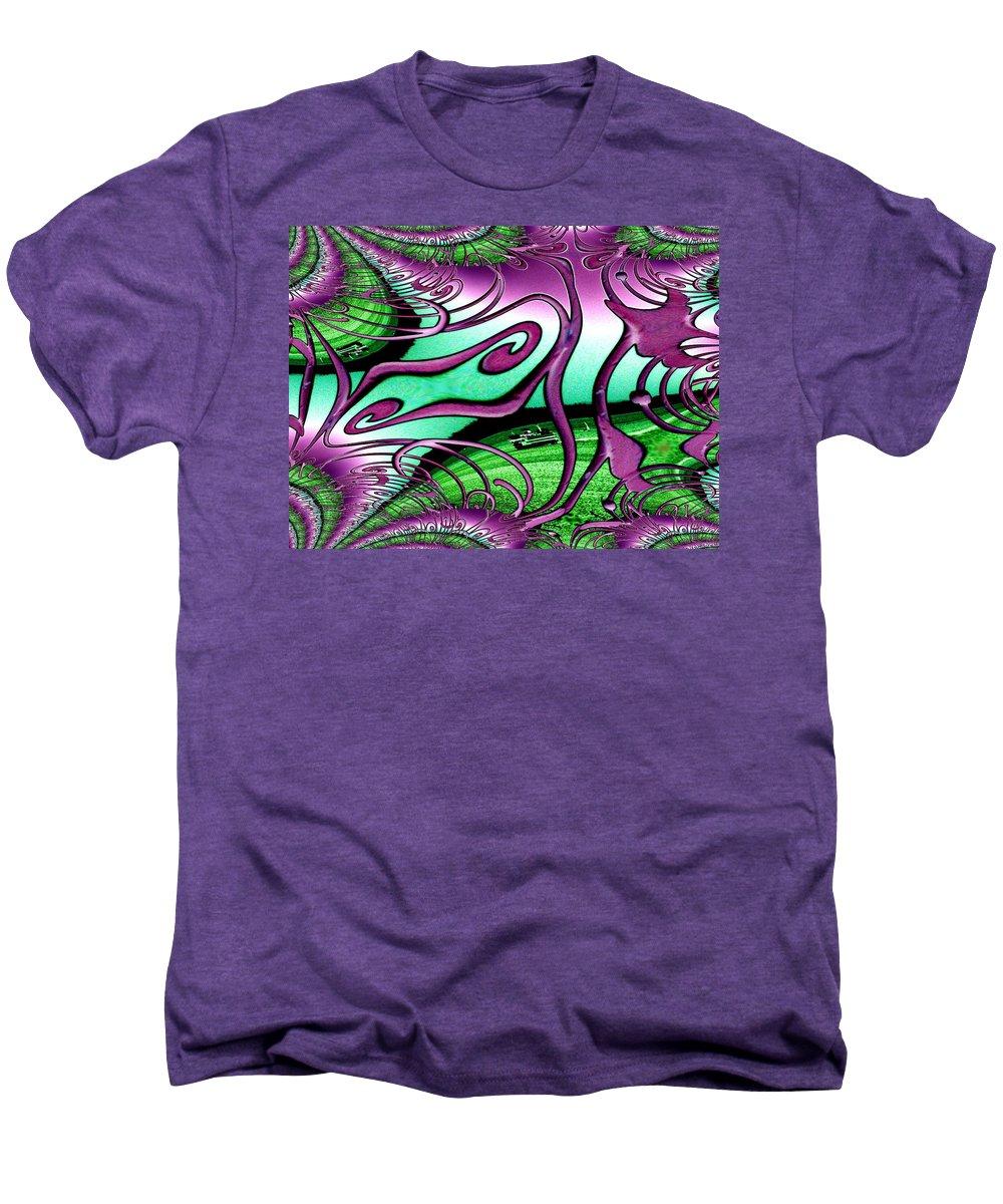Seattle Men's Premium T-Shirt featuring the digital art Ferry On Elliott Bay 2 by Tim Allen