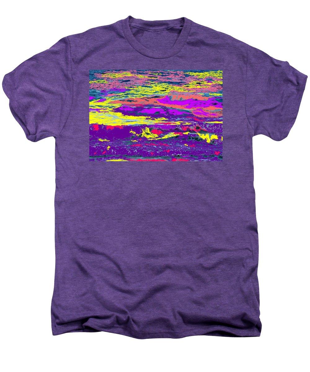 Ocean Men's Premium T-Shirt featuring the photograph Fiery Passion by Ian MacDonald