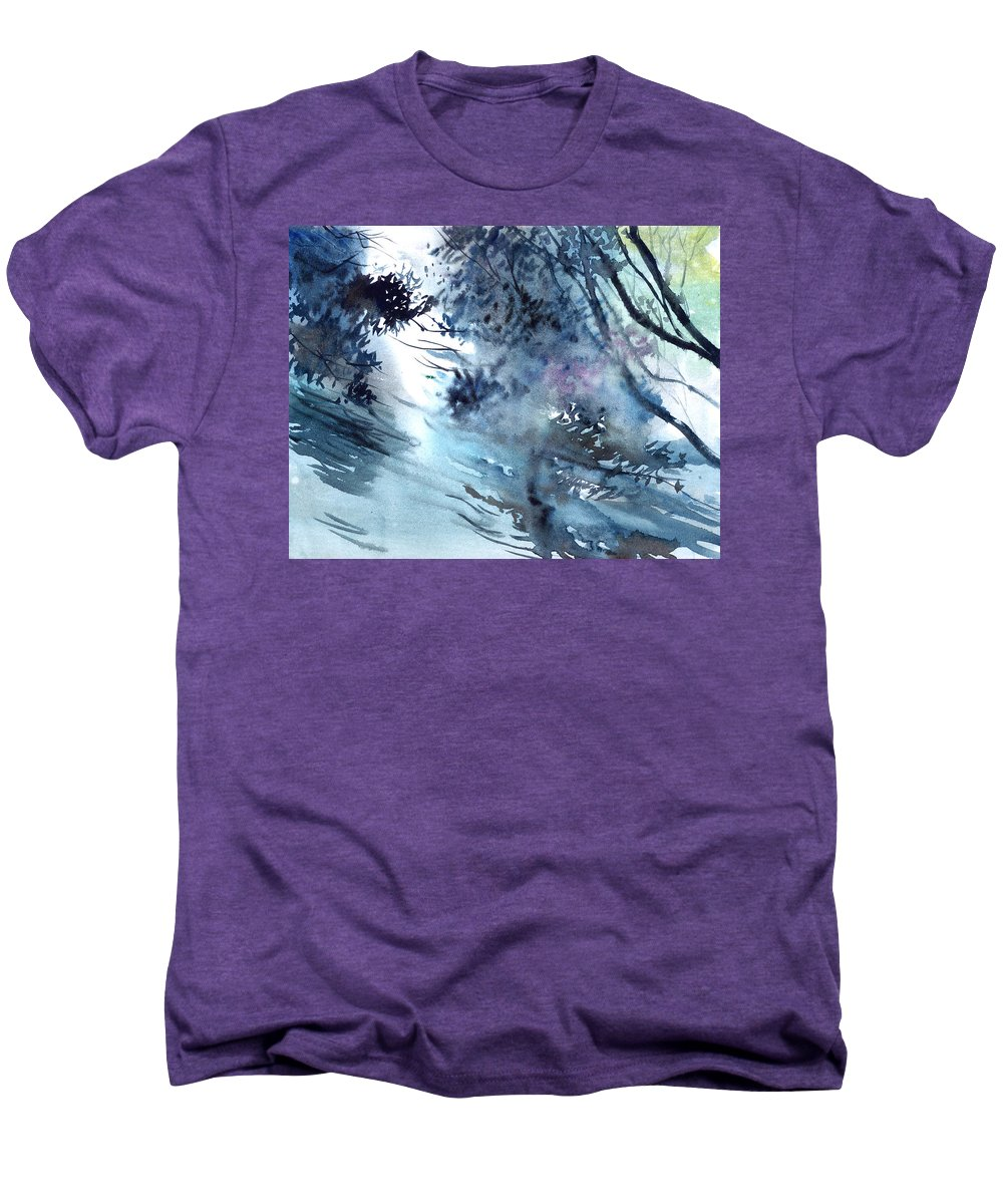 Floods Men's Premium T-Shirt featuring the painting Flooding by Anil Nene