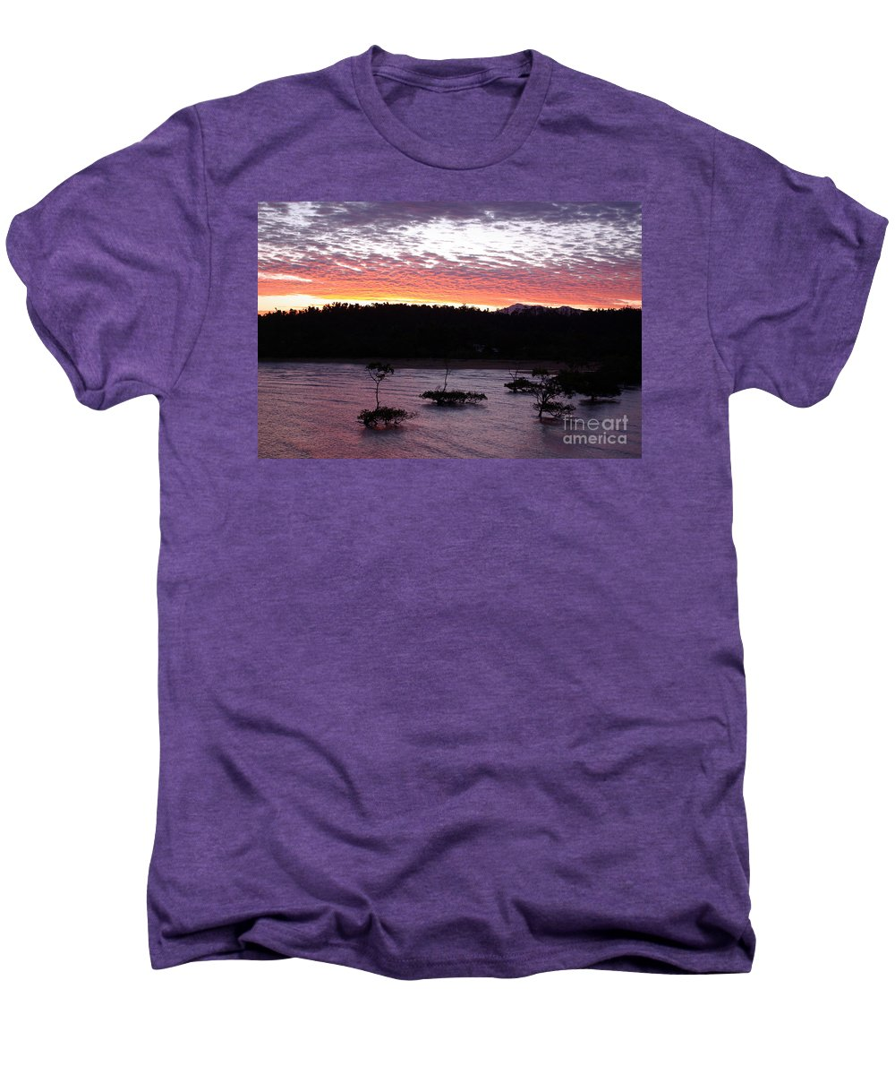 Landscape Men's Premium T-Shirt featuring the photograph Four Elements Sunset Sequence 8 Coconuts Qld by Kerryn Madsen - Pietsch
