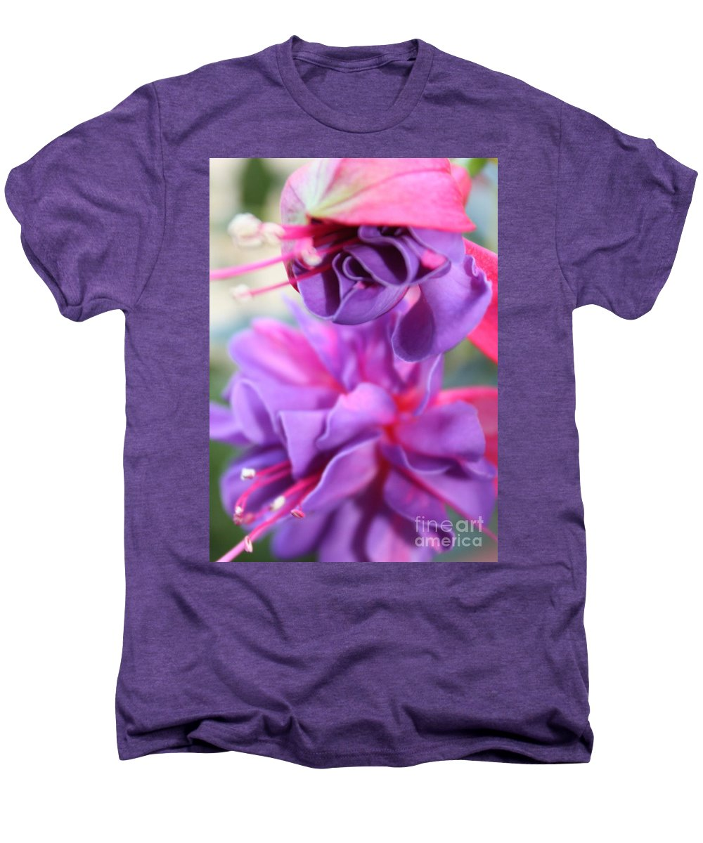 Florals Men's Premium T-Shirt featuring the photograph Fuchsia Drama by Carol Groenen