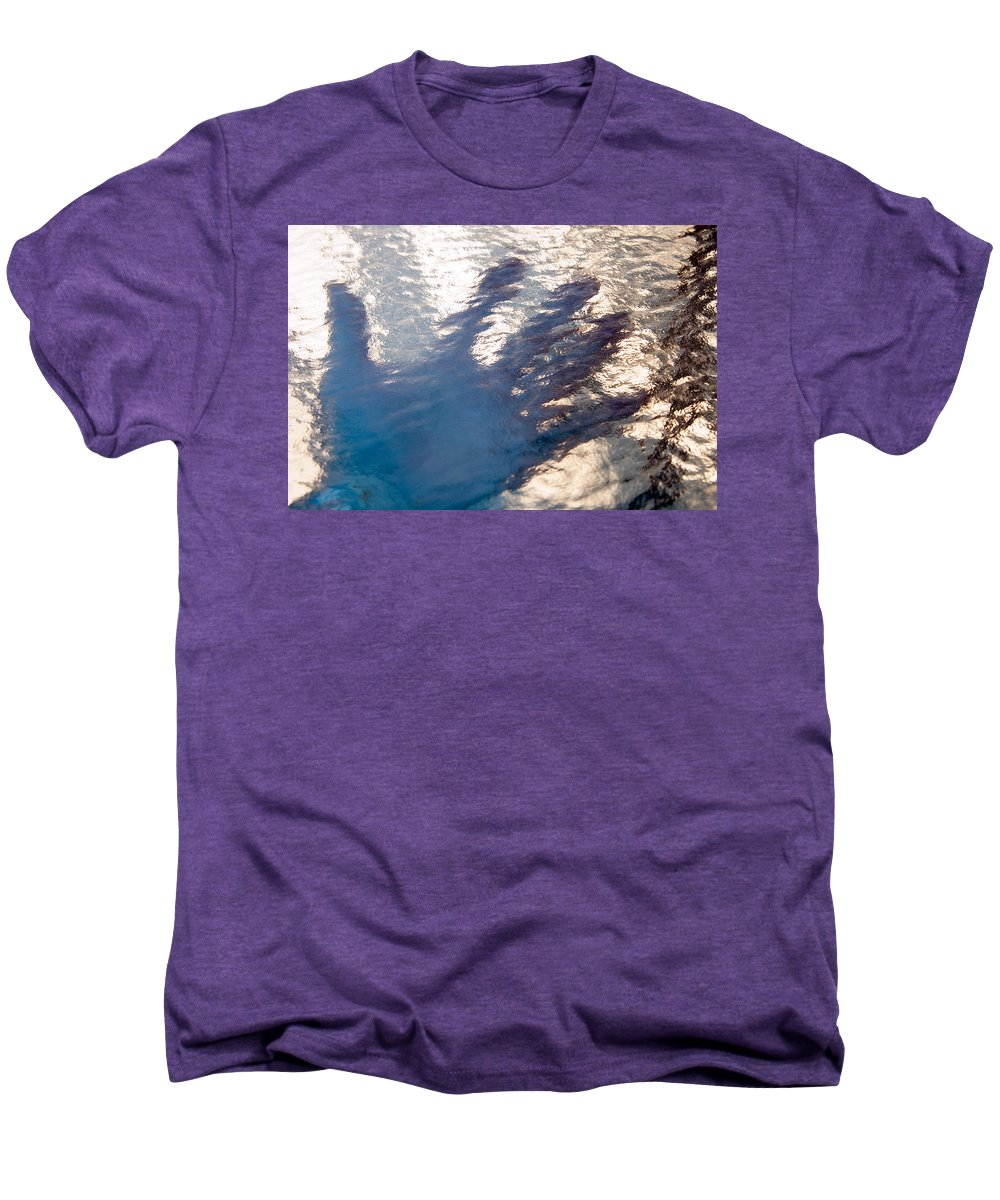Clay Men's Premium T-Shirt featuring the photograph Hand Out by Clayton Bruster