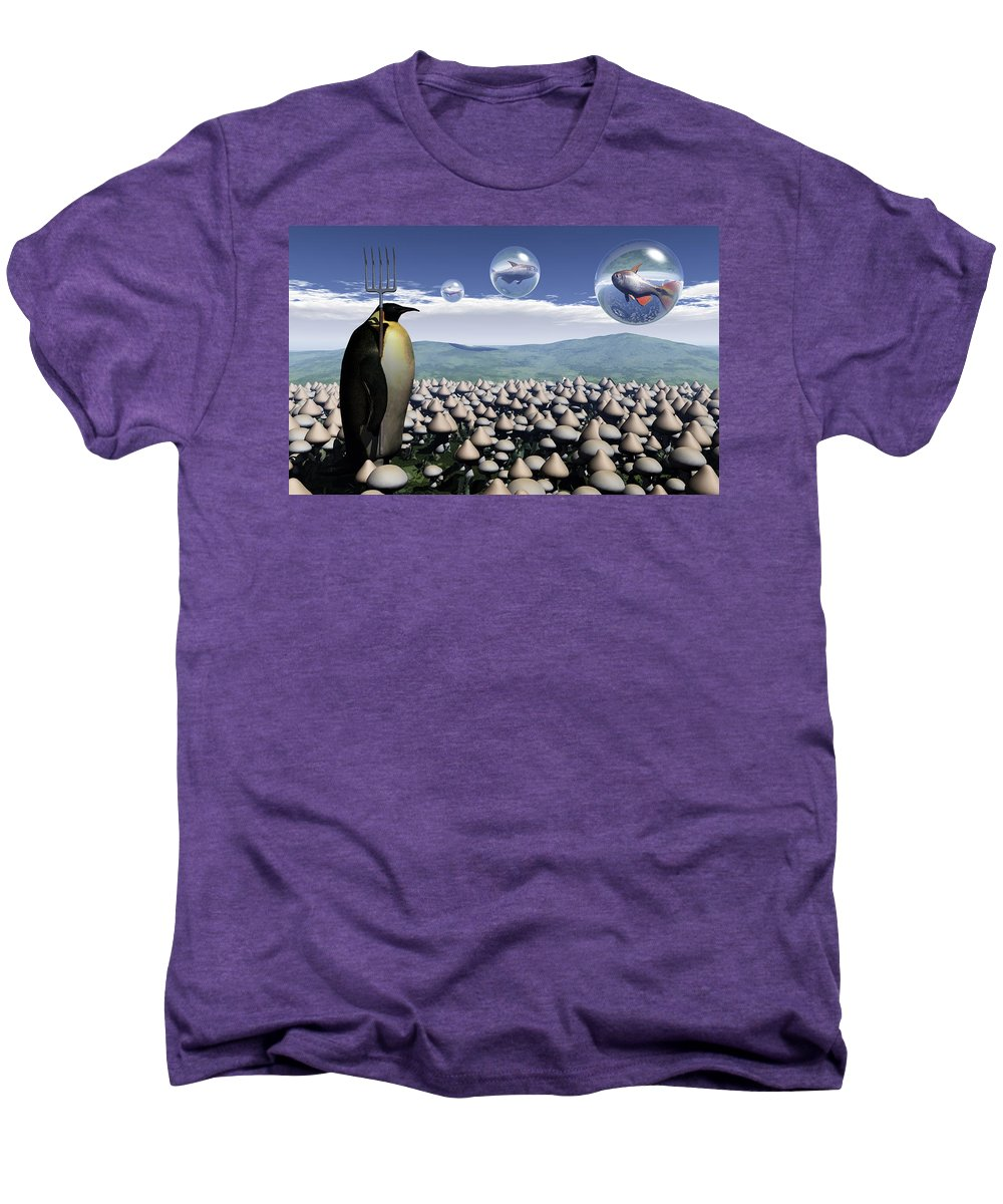 Surreal Men's Premium T-Shirt featuring the digital art Harvest Day Sightings by Richard Rizzo