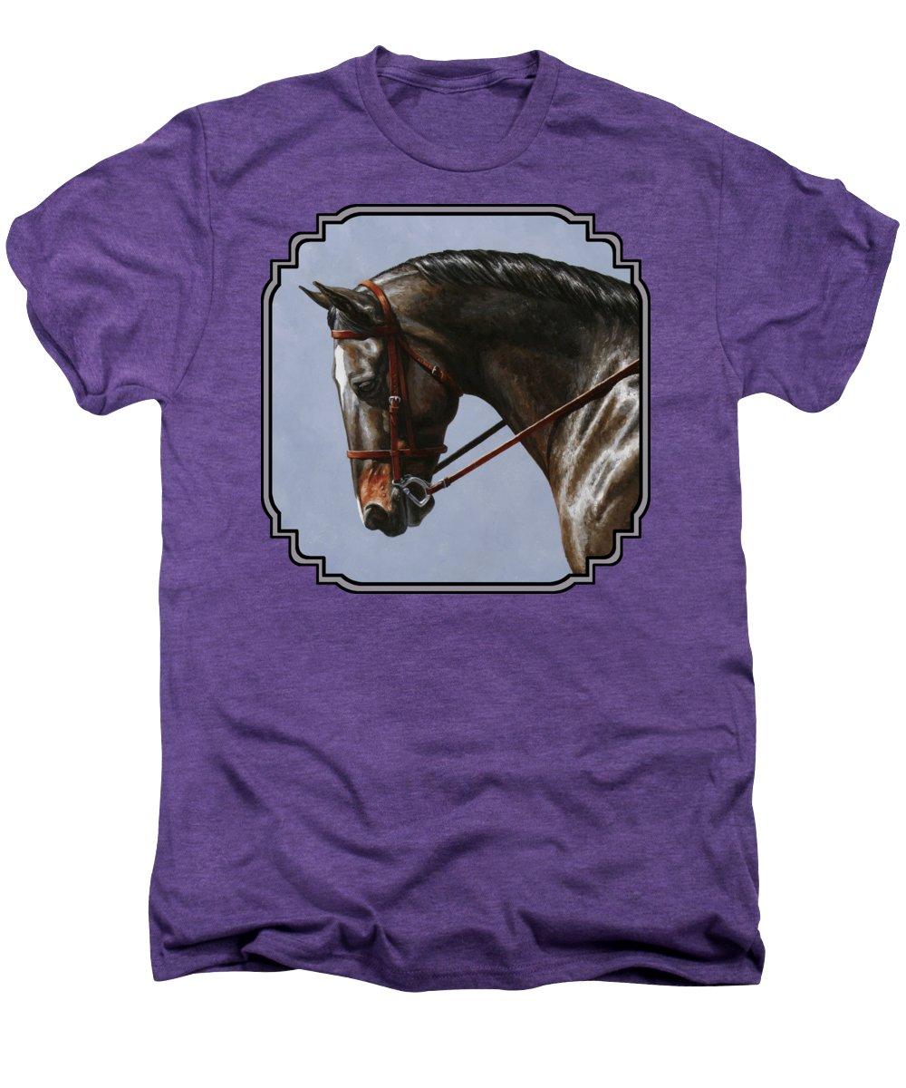 Horse Men's Premium T-Shirt featuring the painting Horse Painting - Discipline by Crista Forest