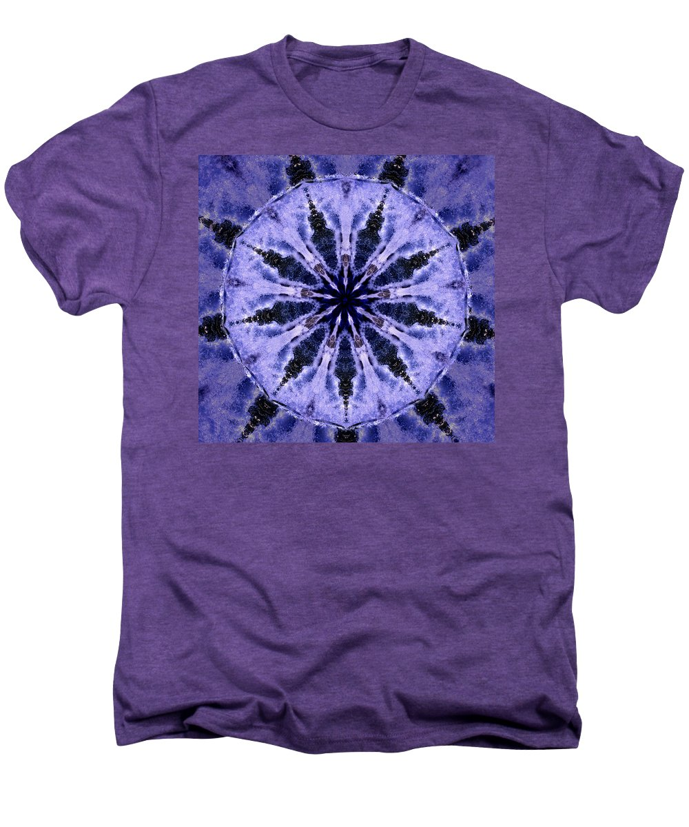 Mandala Men's Premium T-Shirt featuring the digital art Mandala Ocean Wave by Nancy Griswold