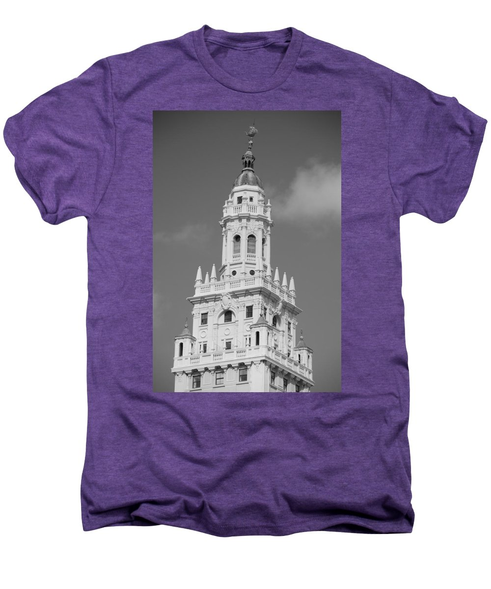 Architecture Men's Premium T-Shirt featuring the photograph Miami Tower by Rob Hans