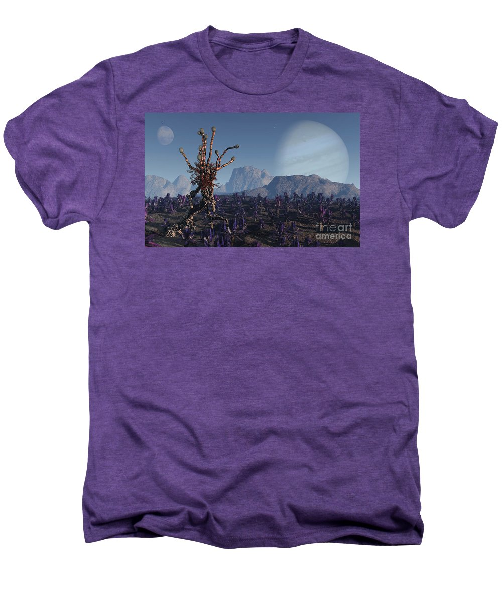 Alien Men's Premium T-Shirt featuring the digital art Morning Stroll by Richard Rizzo