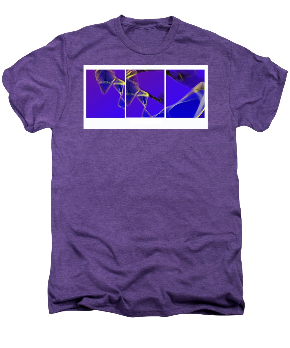 Abstract Men's Premium T-Shirt featuring the digital art Movement In Blue by Steve Karol