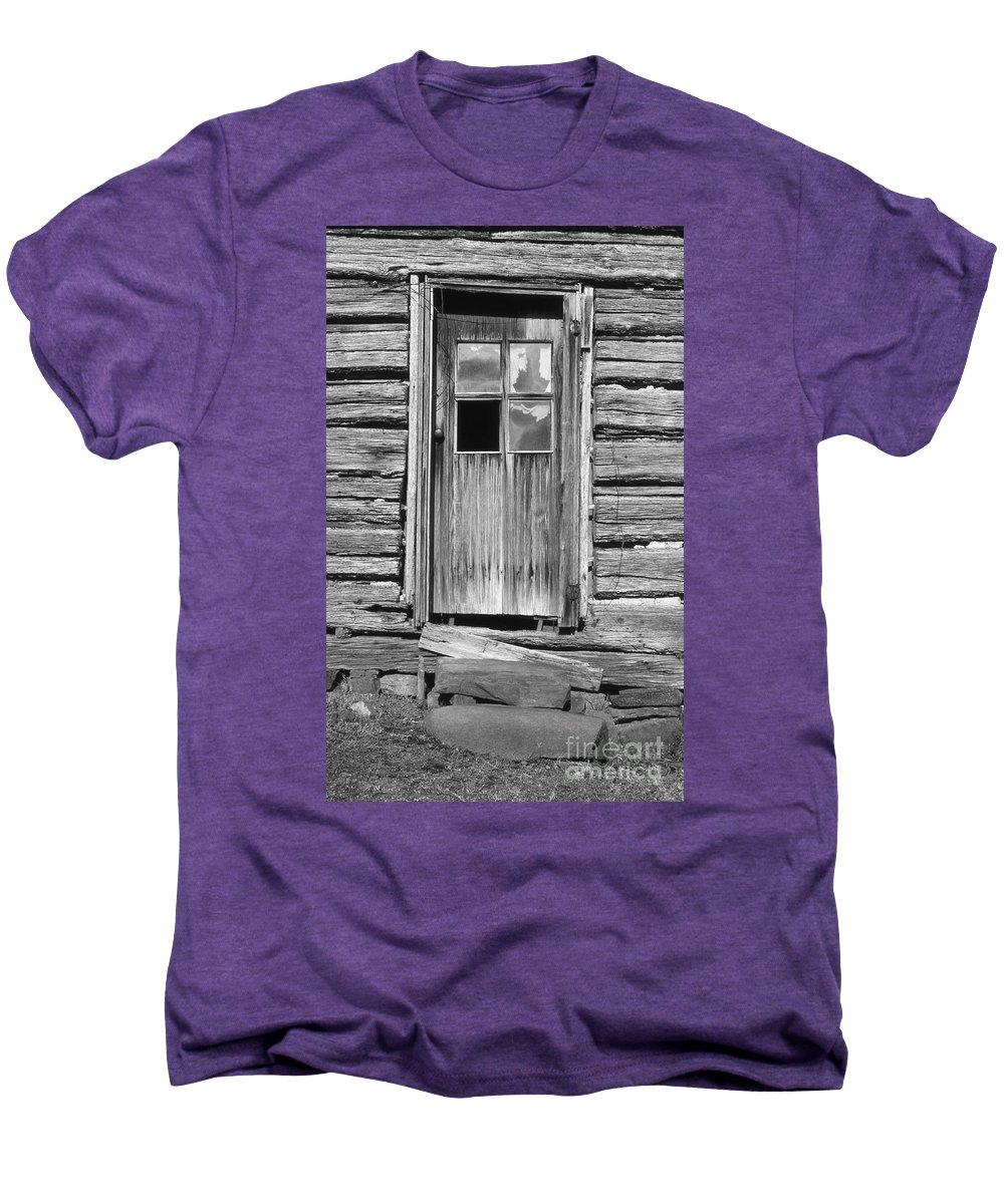 Aged Men's Premium T-Shirt featuring the photograph Old Door by Richard Rizzo