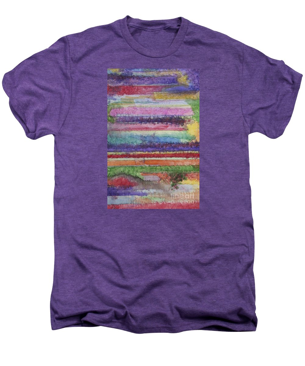 Colorful Men's Premium T-Shirt featuring the painting Perspective by Jacqueline Athmann