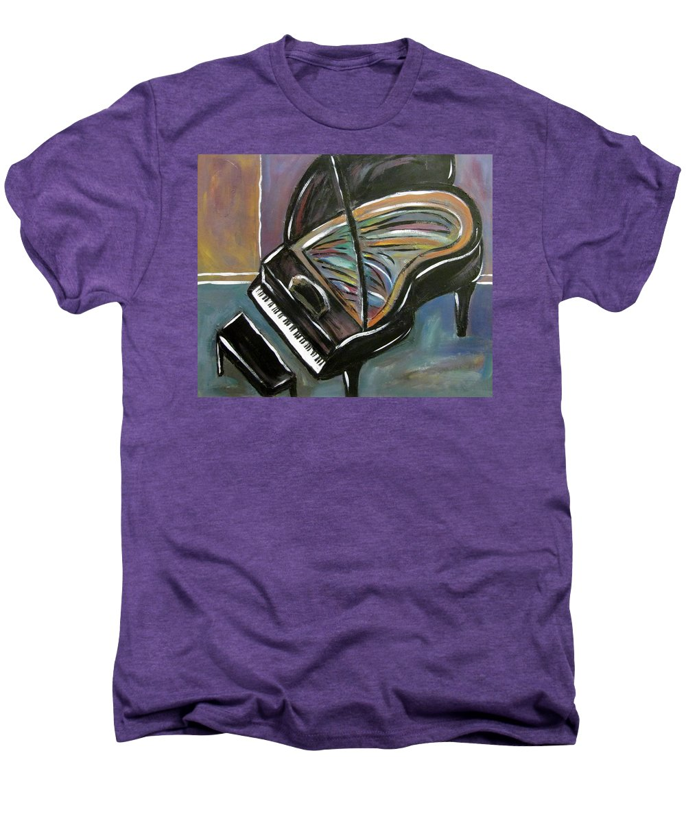 Impressionist Men's Premium T-Shirt featuring the painting Piano With High Heel by Anita Burgermeister