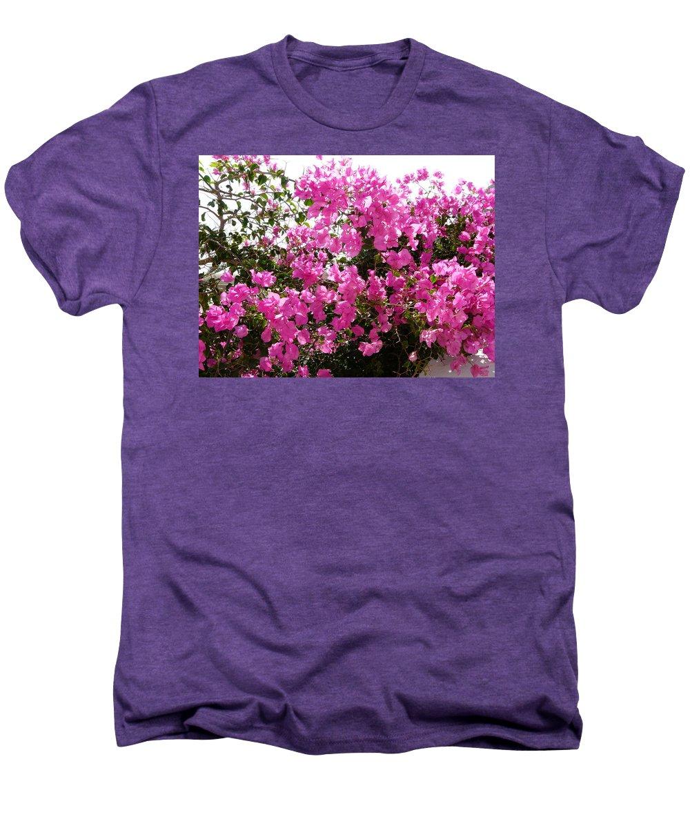 Flower Men's Premium T-Shirt featuring the photograph Purple Abundance by Valerie Ornstein