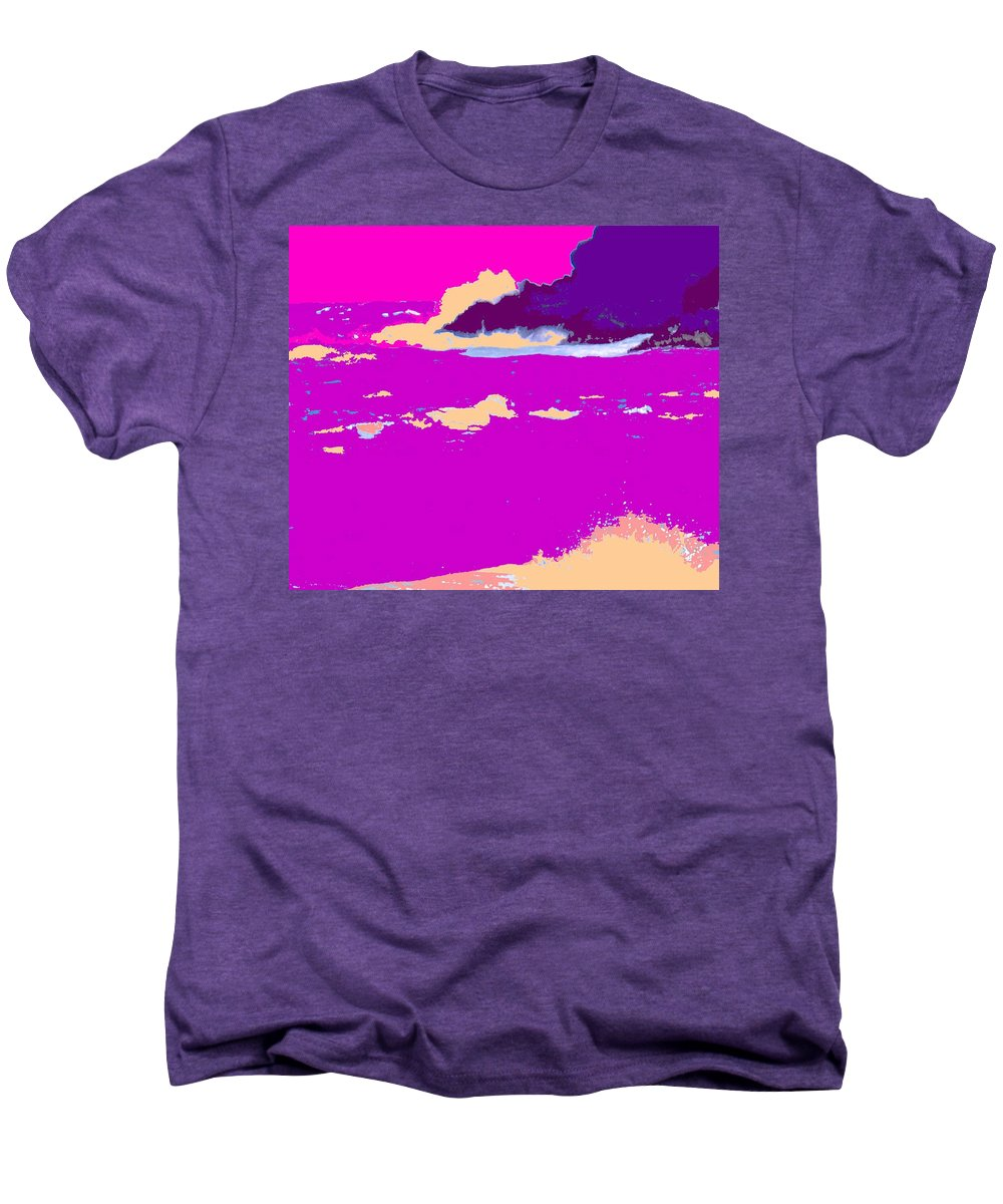 Waves Men's Premium T-Shirt featuring the photograph Purple Crashing Waves by Ian MacDonald