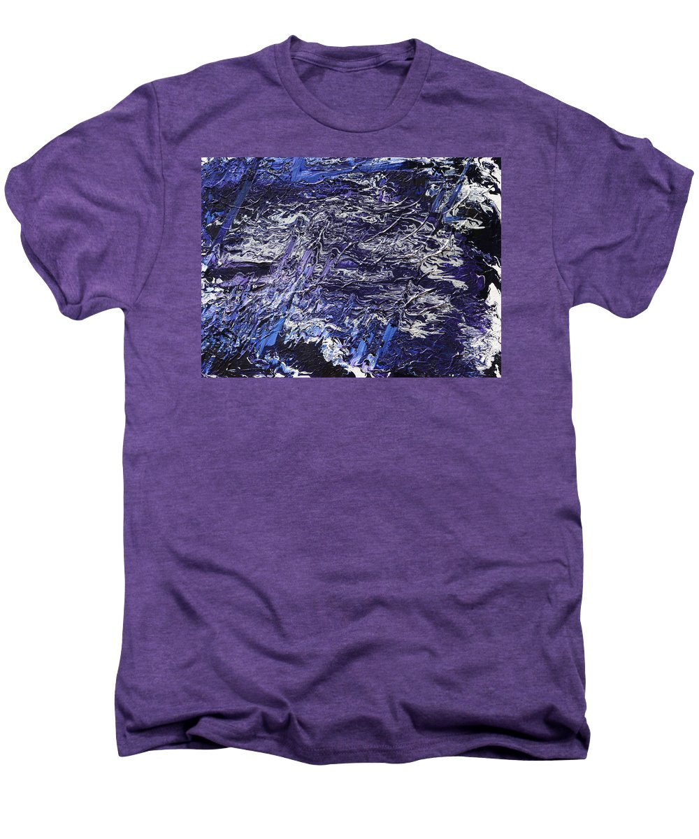 Fusionart Men's Premium T-Shirt featuring the painting Rapid by Ralph White