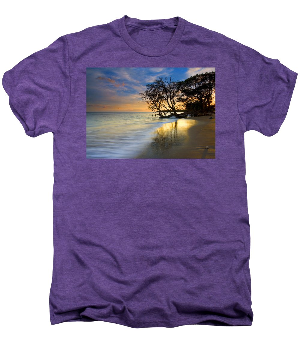 Waves Men's Premium T-Shirt featuring the photograph Reflections Of Paradise by Mike Dawson
