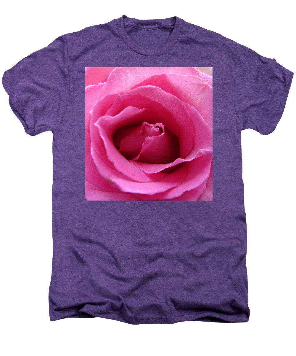 Rose Pink Pedals Men's Premium T-Shirt featuring the photograph Soft And Pink by Luciana Seymour