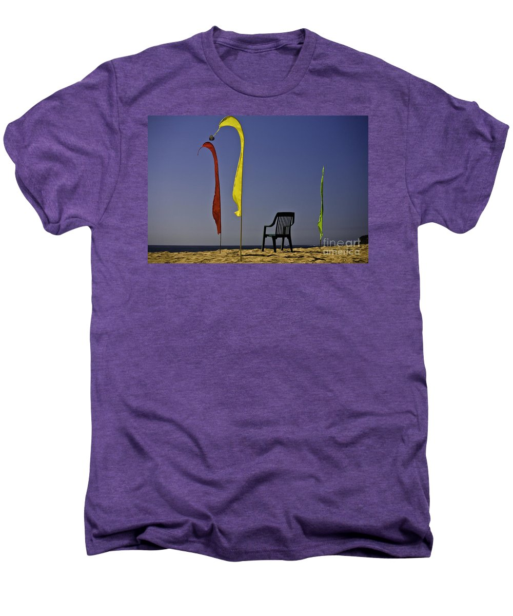 Beach Men's Premium T-Shirt featuring the photograph The Empty Chair by Avalon Fine Art Photography