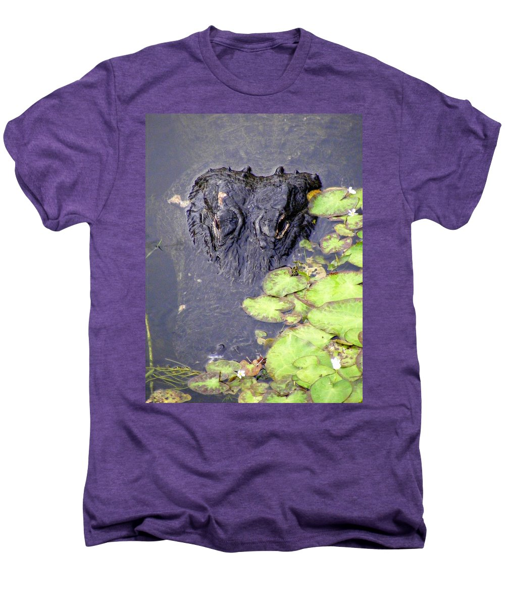 Swamp Men's Premium T-Shirt featuring the photograph Too Close For Comfort by Ed Smith