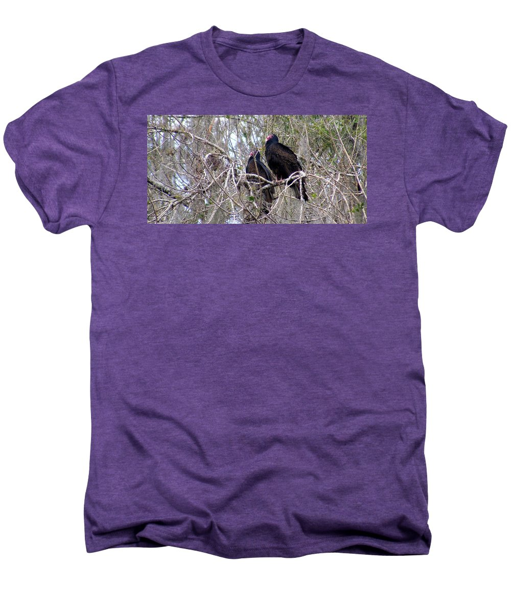 Birds Men's Premium T-Shirt featuring the photograph Two Friends by Ed Smith