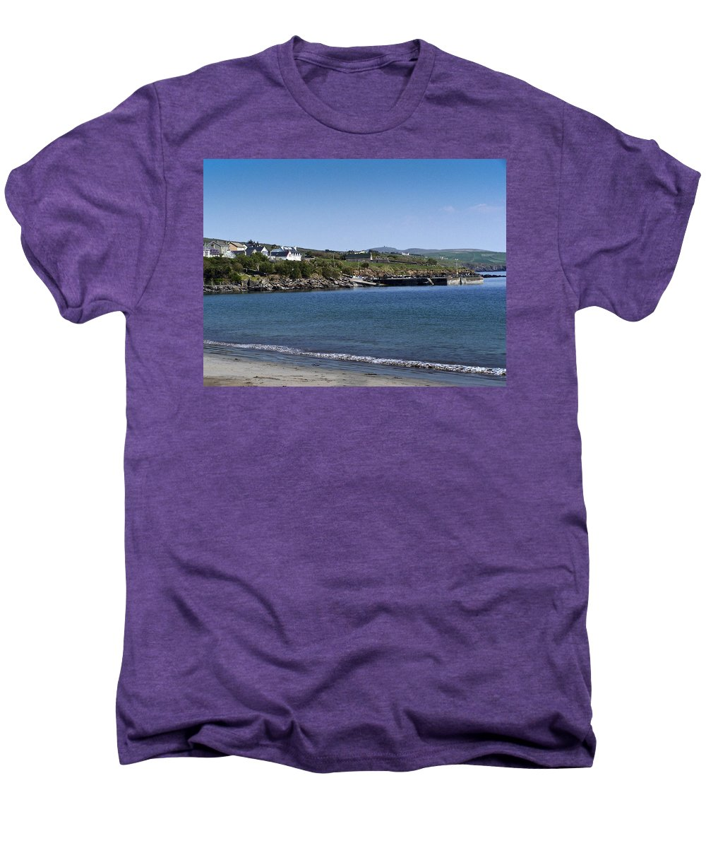 Irish Men's Premium T-Shirt featuring the photograph Ventry Beach And Harbor Ireland by Teresa Mucha